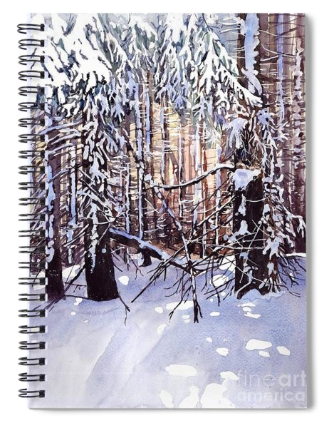Wintertime Painting Spiral Notebook