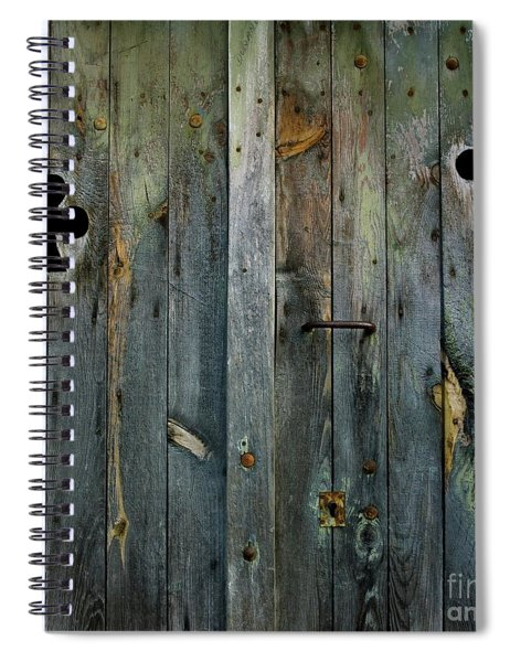 Wooden Door Spiral Notebook