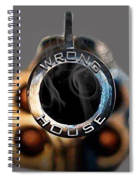 Wrong  House Spiral Notebook