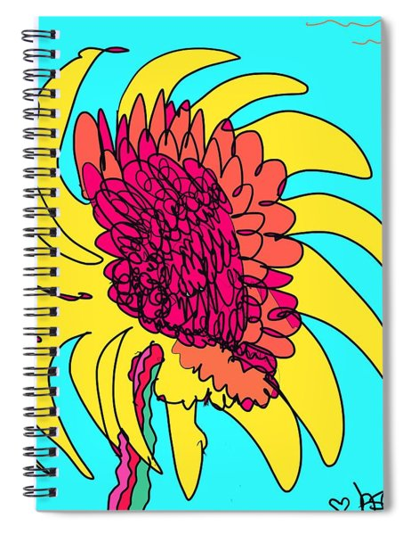 Yes. This Is A Flower, Child Spiral Notebook