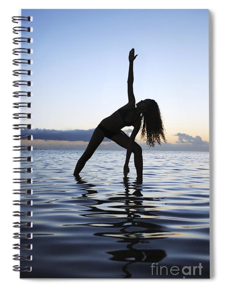 Yoga On The Coastline Spiral Notebook