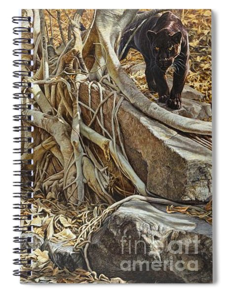 Spiral Notebook featuring the painting You Take The High Ridge by Alan M Hunt