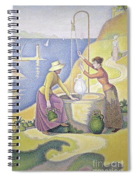 Young Women Of Provence At The Well, 1892 Spiral Notebook
