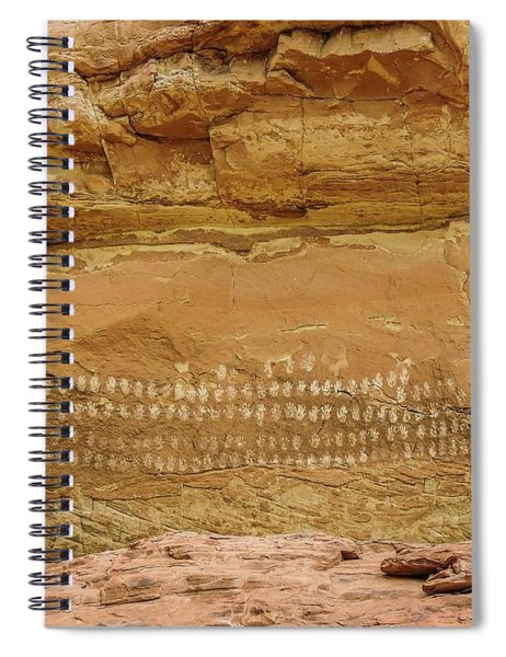 100 Hands Pictograph Panel Spiral Notebook