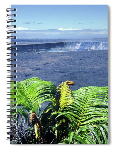 100960 Ferns And Halemaumau Crater Kilauea Caldera Hi Spiral Notebook