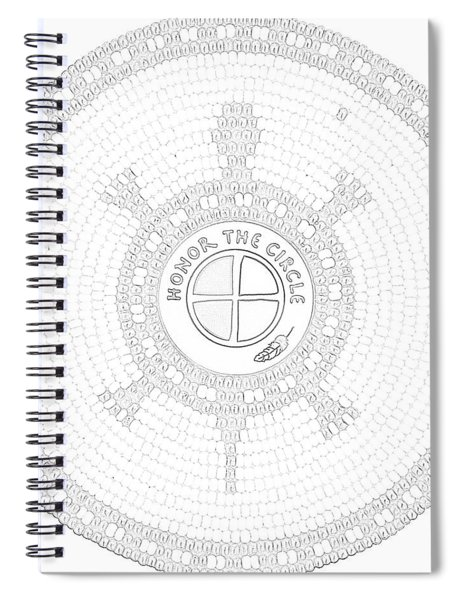 102007- Honor_the_circle Spiral Notebook