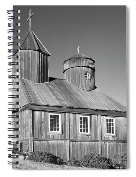 106038 Chapel At Fort Ross State Park Ca Spiral Notebook