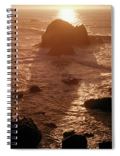 106046 Sunset Kibesillah Beach Ca Spiral Notebook