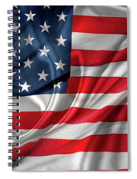Usa Flag 1 Spiral Notebook