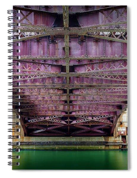 1136 Under The Dearborn Street Bridge Spiral Notebook