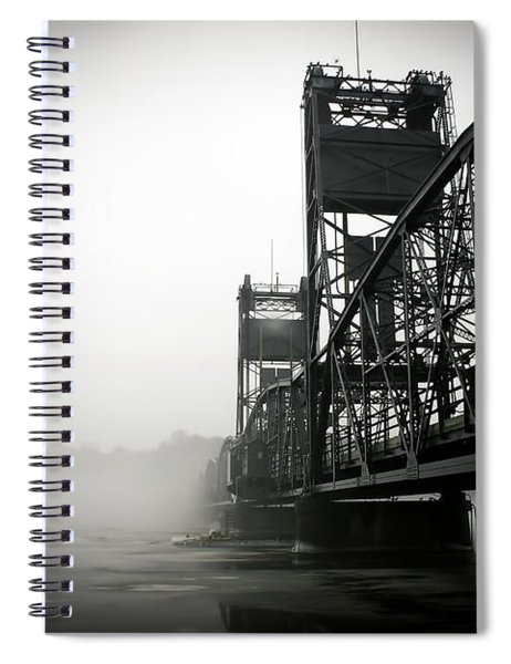 1156 Stillwater Bridge Black And White Spiral Notebook