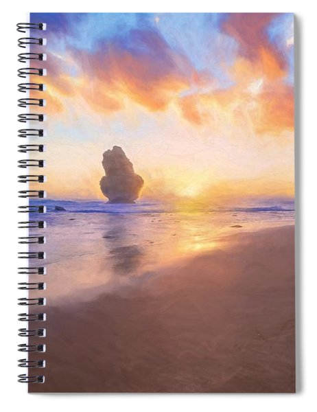 12 Apostles With Marshmallow Skies    Og Spiral Notebook
