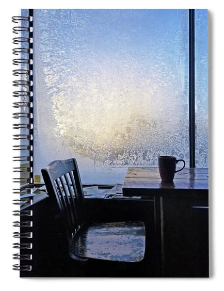 14 Below At The Coffee Shop This Morning Spiral Notebook
