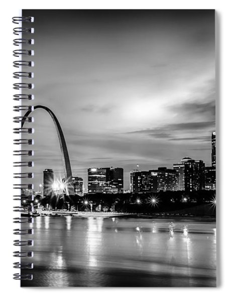 City Of St. Louis Skyline. Image Of St. Louis Downtown With Gate Spiral Notebook