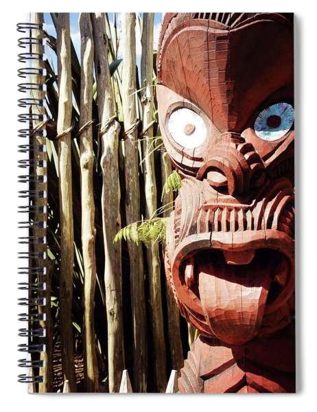 Maori Carving Spiral Notebook