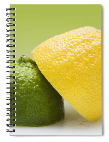 12 Organic Lemon And 12 Lime Spiral Notebook