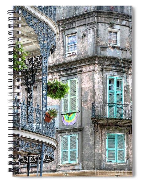 1358 French Quarter Balconies Spiral Notebook