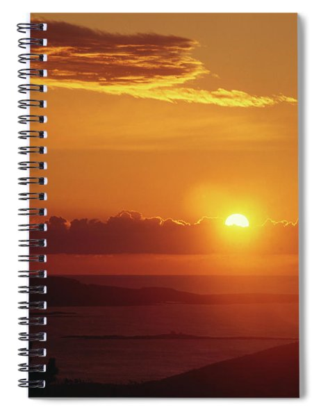 136201-a Sunrise From Cadillac Mountain Spiral Notebook