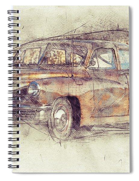 148 Tucker Torpedo - Tucker Sedan - Tucker 48 - 1948 - Automotive Art - Car Posters Spiral Notebook