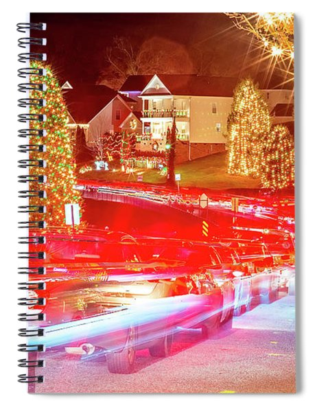 Outdoor Christmas Decorations At Christmas Town Usa Spiral Notebook