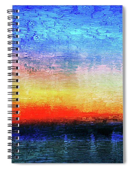 15a Abstract Seascape Sunrise Painting Digital Spiral Notebook