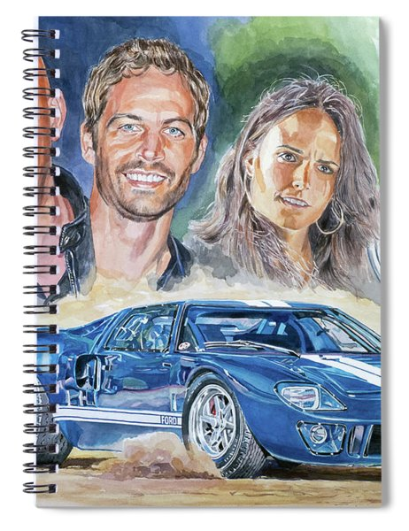 Fast Five Train Heist Spiral Notebook