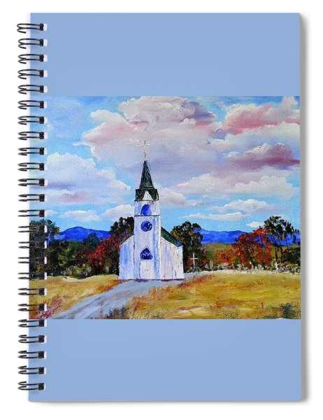 #17 St. Johns Historic Church On Hwy 69 Spiral Notebook
