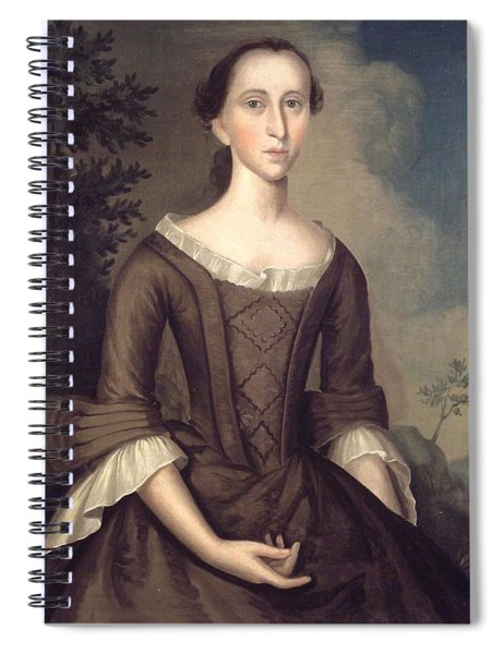 1759 Joseph Badger, Portrait Of A Lady Spiral Notebook