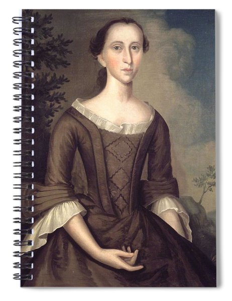 1759 Joseph Badger, Portrait Of A Lady Spiral Notebook