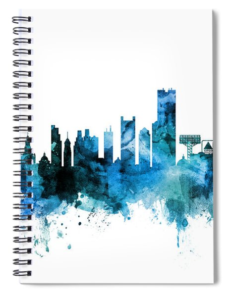 Boston Massachusetts Skyline Spiral Notebook