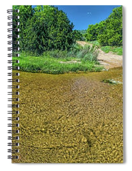 180 Of Sandy Creek At Coulee Hollow Crossing II Hdr Spiral Notebook