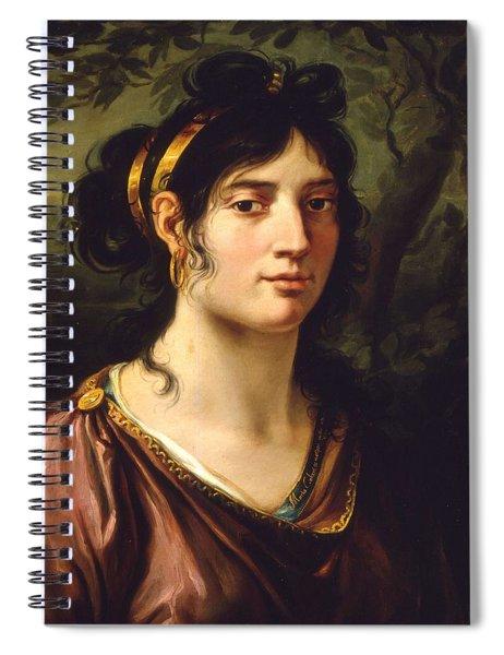 1800 Autoritratto La Pittrice Maria Callani Spiral Notebook