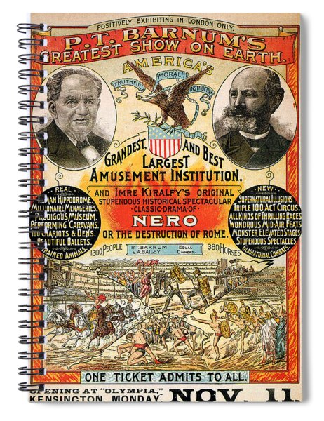 1890 - Circus Poster Spiral Notebook