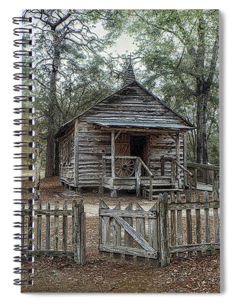 1890 One Room School Spiral Notebook