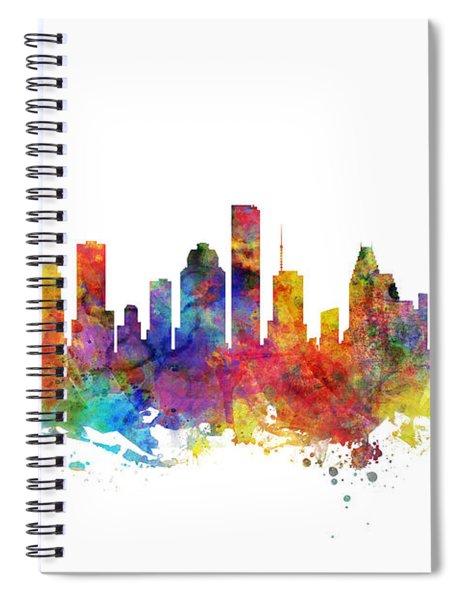 Houston Texas Skyline Spiral Notebook