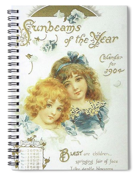 1904 Sunbeams Of The Year 1  Spiral Notebook