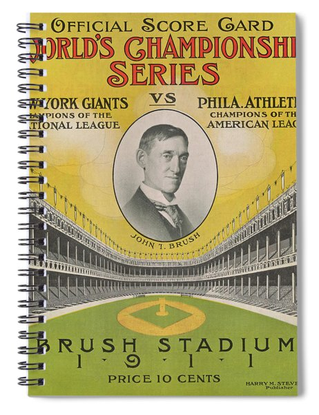 1911 World Series Score Card Spiral Notebook
