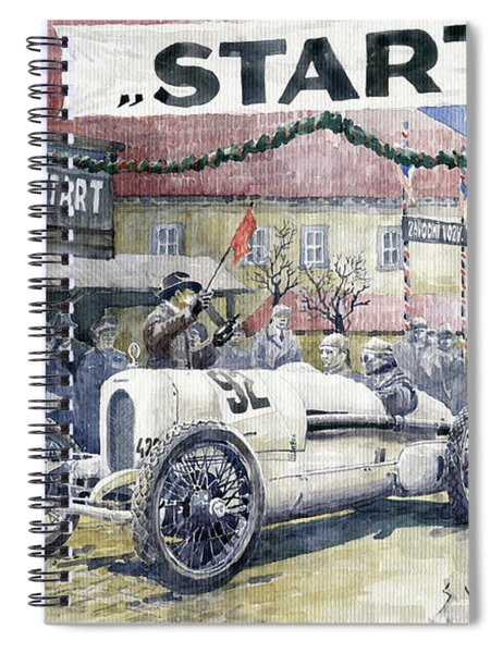 1924 Zbraslav-jiloviste Regularity Ride To The Top Start Walter W-0 Spiral Notebook