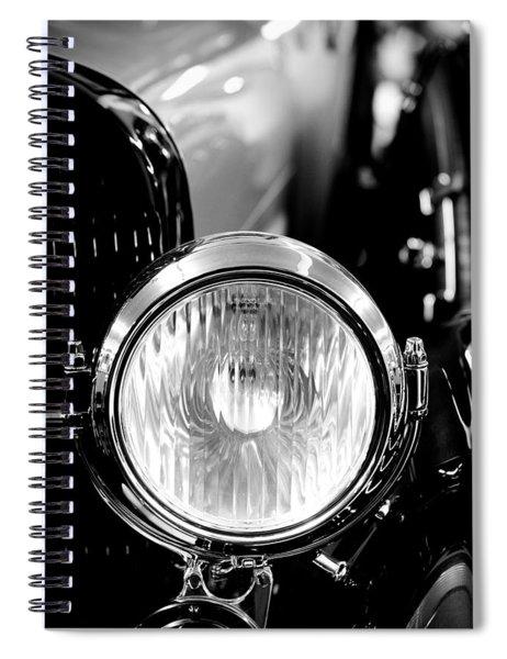 1925 Lincoln Town Car Headlight Spiral Notebook
