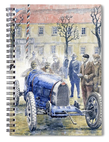 1926 Zbraslav Jiloviste Start Bugatti T35b Cenek Junek Elisabeth Junek  Spiral Notebook