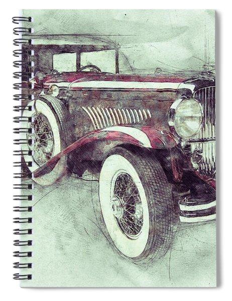 1928 Duesenberg Model J 1 - Automotive Art - Car Posters Spiral Notebook