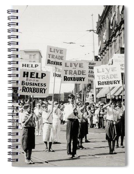 1930 Rally In Roxbury Boston Spiral Notebook