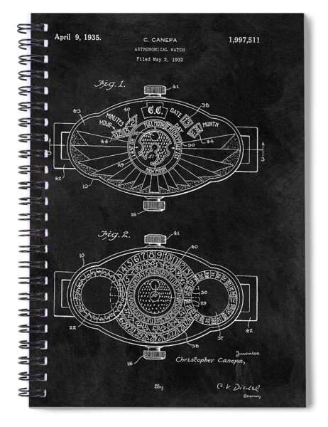 1935 Astronomical Watch Spiral Notebook