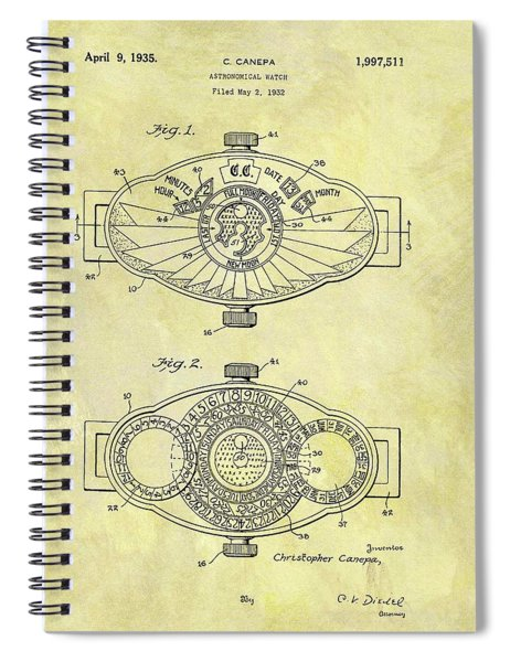 1935 Astronomical Watch Patent Spiral Notebook