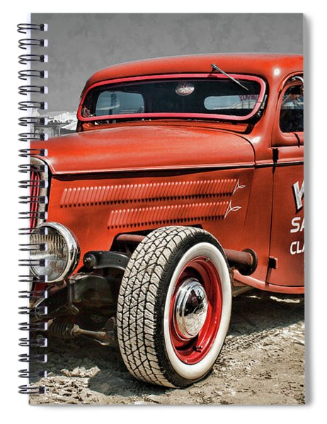 1935 Ford Pickup Custom Rat Tod Spiral Notebook