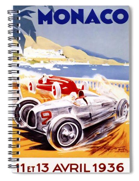 1936 F1 Monaco Grand Prix  Spiral Notebook