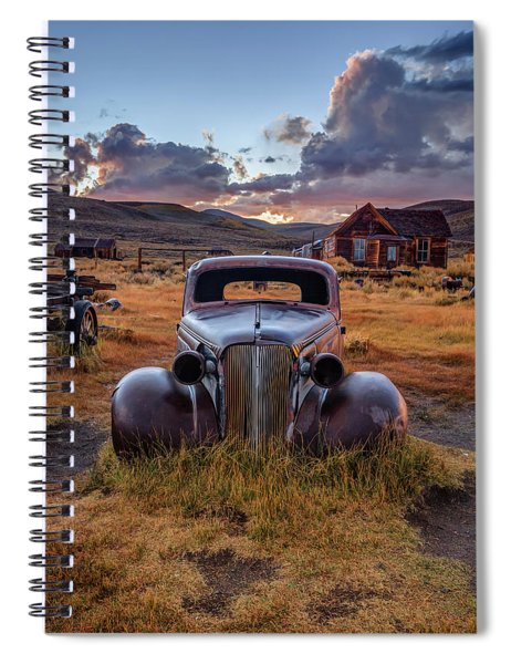 1937 Chevy At Sunset Spiral Notebook