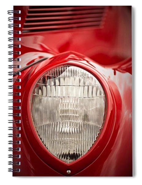 1937 Ford Headlight Detail Spiral Notebook