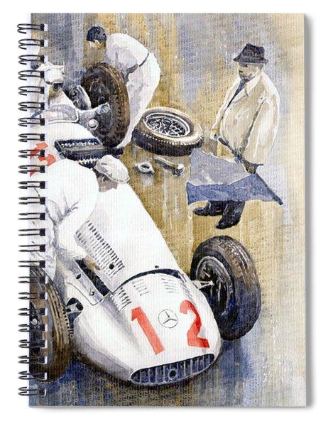 1939 German Gp Mb W154 Rudolf Caracciola Winner Spiral Notebook