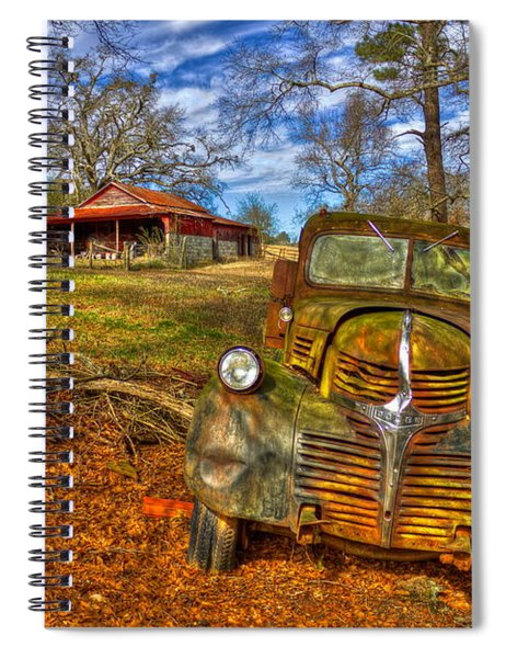 Retired 1947 Dodge Dump Truck Country Scene Art Spiral Notebook